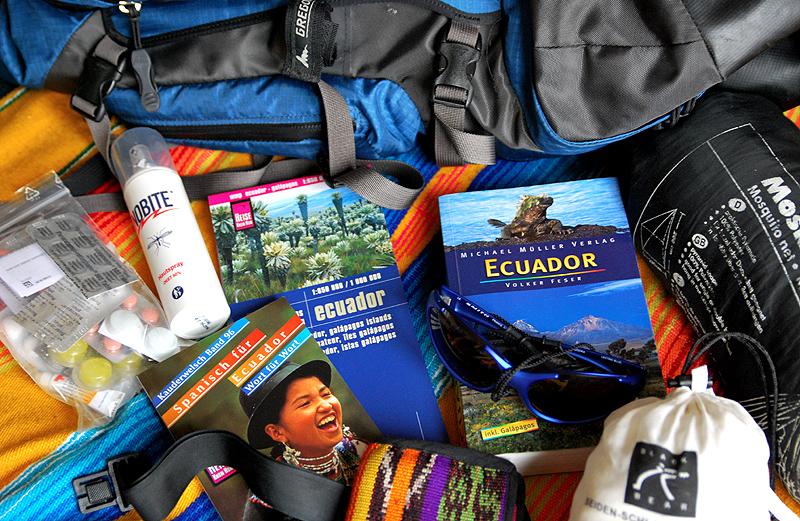Packen für Ecuador