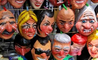 Handbemalte Masken