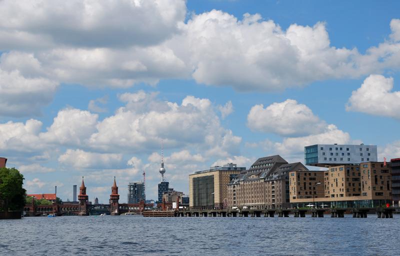 Kurz vor dem Wendepunkt an der Oberbaumbrücke Foto: Kleine Fluchten Berlin
