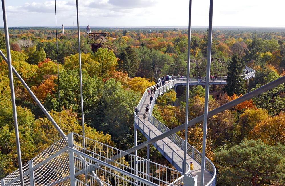 Blick vom Aussichtsturm in Richtung Südosten. Foto: Kleine Fluchten Berlin